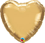 CHROME GOLD HEART (18IN) QTY 5