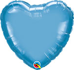 CHROME BLUE HEART (18IN) QTY 5
