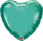 CHROME GREEN HEART (18IN) QTY 5