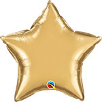 CHROME GOLD STAR (20IN) QTY 5