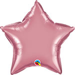 CHROME MAUVE STAR (20IN) QTY 5