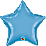 CHROME BLUE STAR (20IN) QTY 5