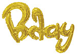 BDAY SCRIPT GOLD (36IN) QTY 1