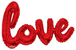 """RED LOVE SCRIPT (90"""") QTY 1"""