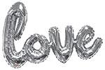"SILVER LOVE SCRIPT (90"") QTY 1"
