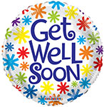 "GET WELL ASTERISKS (18"") QTY 10"