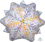 "HOLOGRAPHIC SNOWFLAKE (18"") QTY 5"