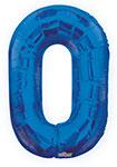 "NUMBER 0 BLUE (34"") QTY 1"