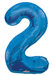 "NUMBER 2 BLUE (34"") QTY 1"