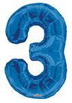 "NUMBER 3 BLUE (34"") QTY 1"