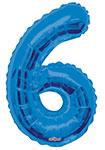 "NUMBER 6 BLUE (34"") QTY 1"