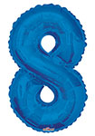 "NUMBER 8 BLUE (34"") QTY 1"