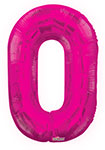 """NUMBER 0 HOT PINK (34"""") QTY 1"""