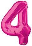 """NUMBER 4 HOT PINK (34"""") QTY 1"""