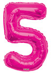 """NUMBER 5 HOT PINK (34"""") QTY 1"""