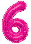 """NUMBER 6 HOT PINK (34"""") QTY 1"""