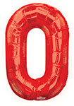 """NUMBER 0 RED (34"""") QTY 1"""