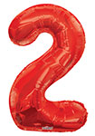 """NUMBER 2 RED (34"""") QTY 1"""