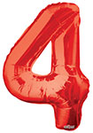 """NUMBER 4 RED (34"""") QTY 1"""
