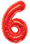 """NUMBER 6 RED (34"""") QTY 1"""