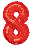 """NUMBER 8 RED (34"""") QTY 1"""