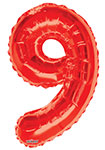 """NUMBER 9 RED (34"""") QTY 1"""