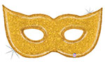 "GOLD GLITTER MASK (51"") QTY 5"
