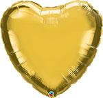 "GOLD HEART (36"") QTY 5"