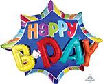 """BURST HAPPY BIRTHDAY (35"""") QTY 5"""
