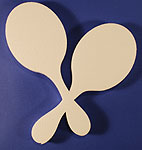 MARACAS (12in x 1½ thick) QTY2