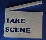 MOVIE CLAPPER WITH WORDS  (18in x 1½ thick) QTY2
