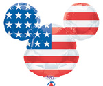 MICKEY PATRIOTIC SHAPE - INDEPENDENCE DAY (27in.)  QTY 5