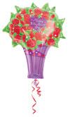 Valentine Rose Bouquet - VALENTINE'S DAY (27in.)  QTY 5