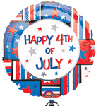 Happy 4th OF July - INDEPENDENCE DAY (18in)  QTY 5