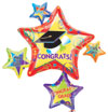 Congrats Grad Star Cluster  (35IN) QTY 5