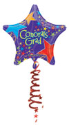Congrats Grad Foil Tail Airwalker  (44in) QTY