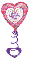 Mothers day hearts w/ Coil Weight () QTY 5
