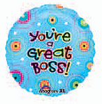 YOU'RE A GREAT BOSS 18in QTY 5