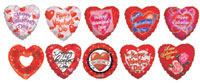 PRE-INFLATED HVD ASST/ON STICK - VALENTINE'S DAY (9in)  QTY 25