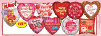 TWO SIDED HAPPY VALENTINE'S DAY ASST (18in)  QTY 100