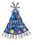 HAPPY NEW YEAR PARTY HAT (35in) QTY 5