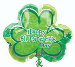HAPPY ST. PATRICKS LUCK SHAMROCK 25in QTY 5