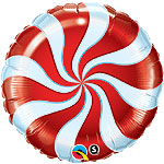 "CANDY SWIRL RED  (9"") QTY 10"