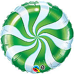 CANDY SWIRL GREEN (18 IN) QTY 5