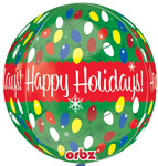 HAPPY HOLIDAY ORBZ (16IN) QTY 5