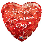 HAPPY VALENTINE'S DAY HEARTS 36 INCH QTY 5