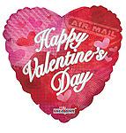 HAPPY VALENTINE'S DAY CLASSIC PATTERN 18 INCH QTY 10