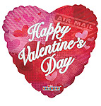 HAPPY VALENTINE'S DAY CLASSIC PATTERN 9 INCH QTY 25