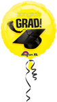 Congrats Grad! YELLOW  (18IN) QTY 10