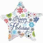 HOLIDAY SNOWFLAKES STAR (18IN) QTY 5